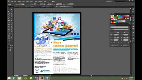 Creating posters & flyers with digital technology